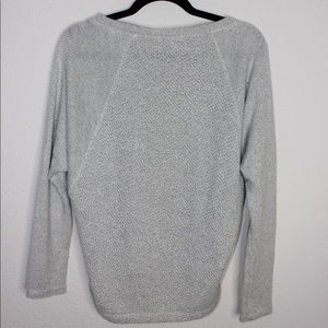 Splendid Sweaters - Splendid Waffle Knit Gray Oversized Crop Sweater
